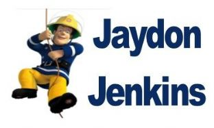 Personalised Rectangle Fireman Sam School Book Stickers